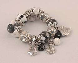 Black and White Beads Bracelet