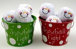 Indoor Snowball Fight Kit, 2 asst, priced each