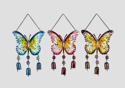 Hanging Butterfly W/Bells 3 Asst.