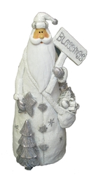 "White Resin Santa ""Blessing"" Figurine"