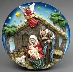 Nativity Scene Plate LED