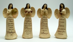 Category: Dropship Collectibles, SKU #049-99697, Title: Cream Angels Set of Four