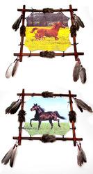 Mandala - Realistic Horse Paintings Set of 2