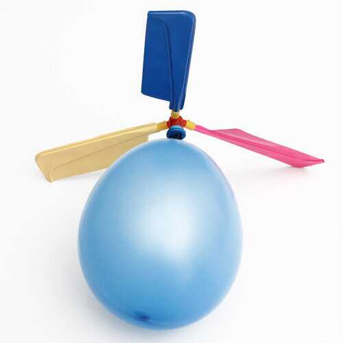 20 PCS  Colorful Traditional Classic Balloon Helicopter Portable Flying Toy Beach Toys