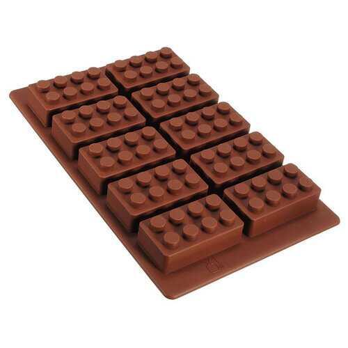 Brick Pattern Silicone Ice Cube Mold