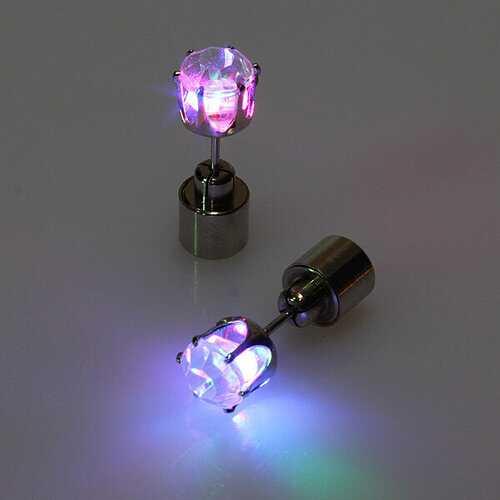 1 Pair LED Zircon Earrings