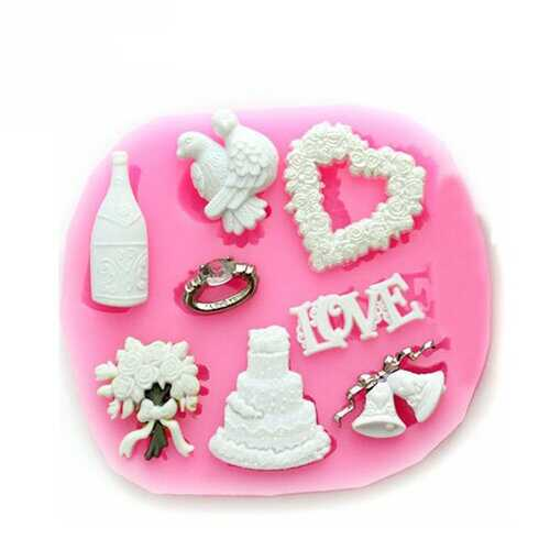Silicone Christmas Love Heart Cake Mould