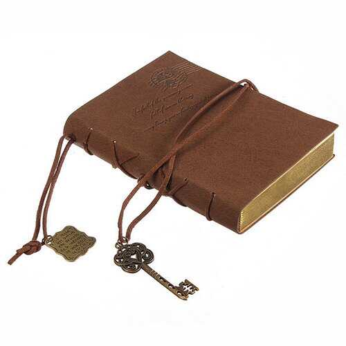 10X14CM Classic Retro Leather Key Blank Diary Notebook Vintage String Journal Sketchbook