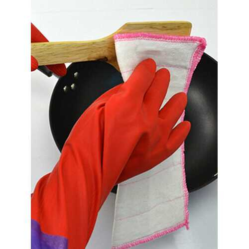 50cm Rubber Latex Dish Washing Cleaning Long Gloves Household Kitchen Glove