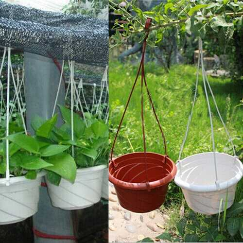 Plastic Hanging Flower Pot Gardening Plant Pot With Hook
