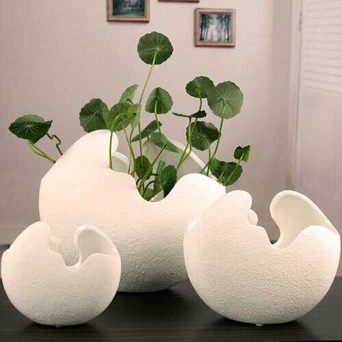Creative Ceramic Egg Shell Shaped Flower Pots