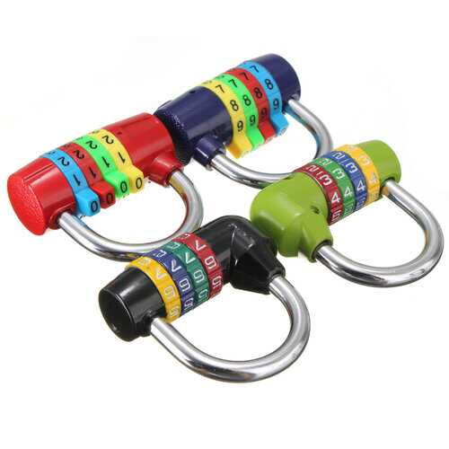 Zinc Alloy Short 4 Digit Number Code Dial Combination Padlock Security Safety Lock