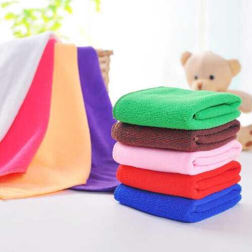 25*25cm Microfiber Absorbent Face Towel Soft Bath Washcloth