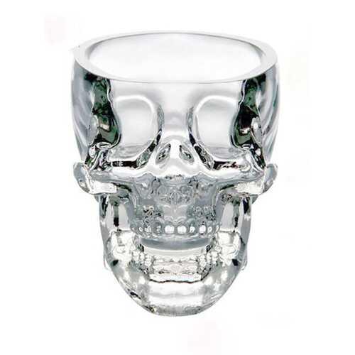 100ml Clear Head Glass Cup Clear Skull Vodka Whiskey Cup Creative Trasparent Bar Glass