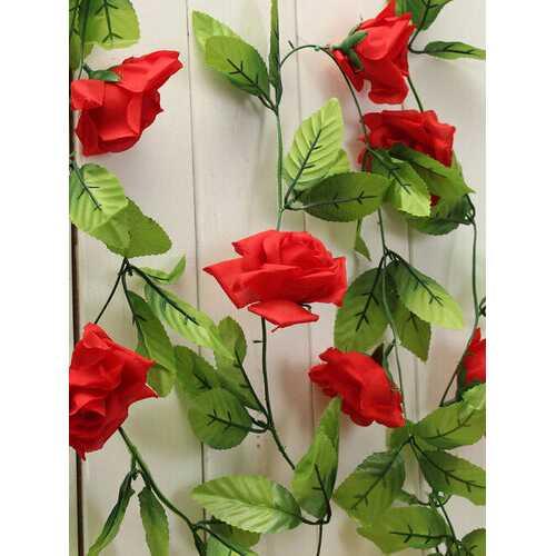 Artificial Flowers Rose Garland Silk Flowers Vine Fake Leaf Party Garden Wedding Home Decor