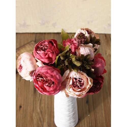 Peony Bouquet Artificial Silk Flowers Home Room Party Wedding Garden Decoration