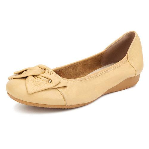 Big Size Floral Butterflyknot Slip On Soft Sole Light Flat Shoes