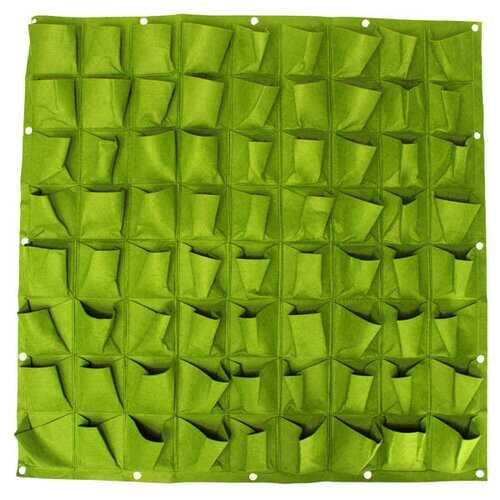 72 Pockets Wall Haning Felt Planter Bags