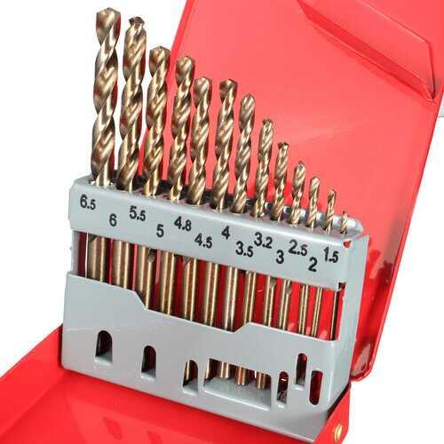 13PCS HSS Drilling Bits Twist Drill Bit 1.5-6.5mm Bits Set