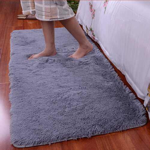 90x160cm Short Floss Floor Bedroom Mat Shaggy Blanket Non Slip Living Room Rug Carpet