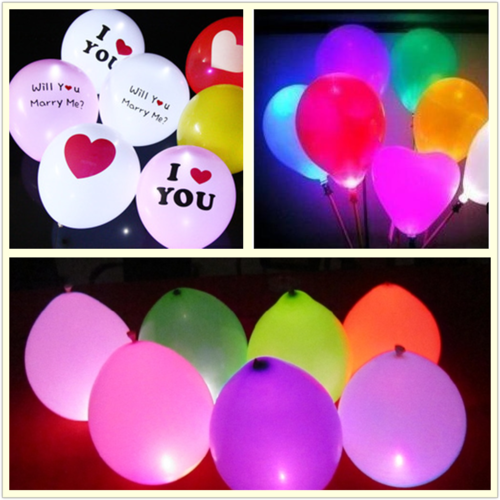 25pcs 1.7cm Round LED Balloon Light Lamp Glowing Balloon Birthday Wedding Party Decoration