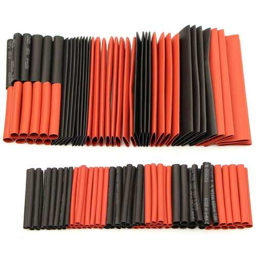 127Pcs Halogen-Free 2:1 Heat Shrink Tubing Wire