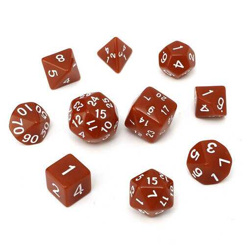 10pc/Set D4-D30 Multi-sided Dices TRPG Games Gaming Dices 8Color Intelligence Toys