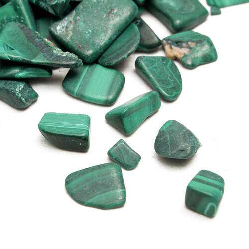 100g DIY Crystal Stone Bulk Tumbled Natural Malachite Stones Crystal