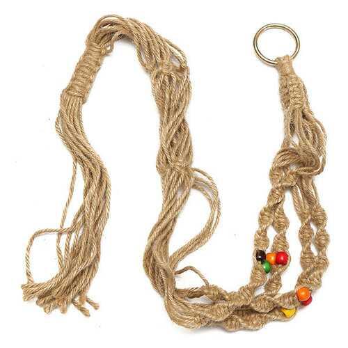 42 Inch Colour Bead Flowerpot Plant Hanger Macrame Jute Rope Garden Decorative Cord with Hook