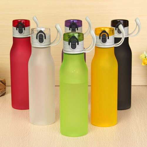 550ml Multi-color Frosted Plastic Water Bottle Portable Fashion Style Sports Cups Drinkware