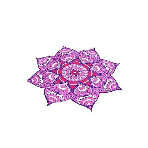 144cm Shower Towel Blanket Beach Towel Throw Polygon Flower Yoga Mat Beach Pool Home Textile