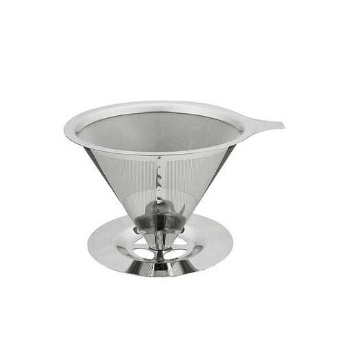 Pour-Over Coffee Dripper Stainless Steel Double Layer