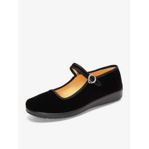 Black Buckle Casual Shoes