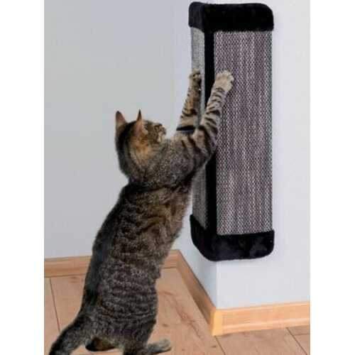 19'' Natural Sisal Wall Corner Cat Scratching Board Pet Cat Grind Claws Interactive Toy