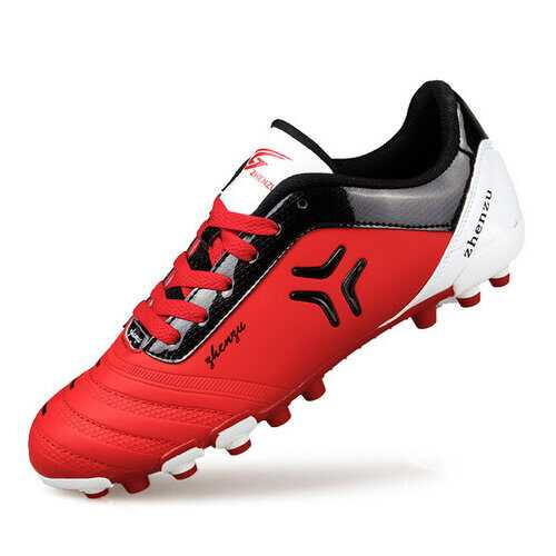 Breathable Light Shock Absorption Studs Football Soccer Shoes