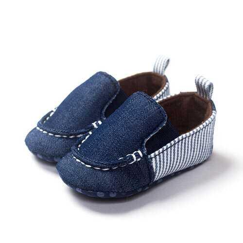 Canvas Denim Slip On Shoes For 0-24M