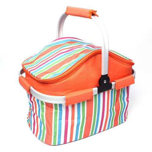 20L Outdoor Pinic Insulation Bag BBQ Lunch Food Storage Ice Pack Foldable Thermal Fresh Preservation