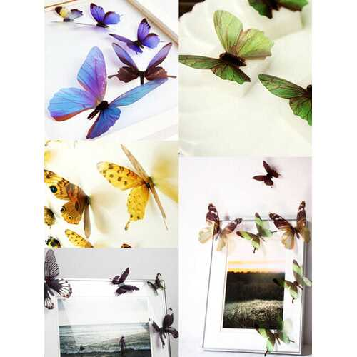 18Pcs 3D Butterfly Wall Stickers