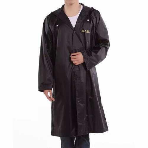 Adult Outdoor Raincoat Long Poncho Hood Thicker Reflective Types Design Work Travel Rainwear