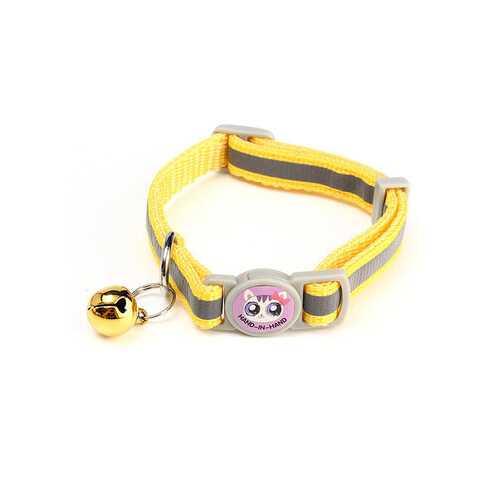 12Pcs/Lot Pet Cat Safety Collar with Bell Reflective Breakaway Kitten Dog Collar