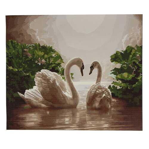 "20""*16"" DIY Paint Romantic Double Swan"