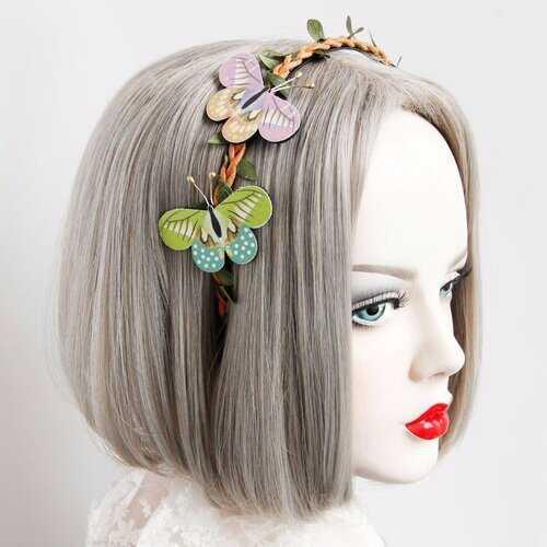 Cosplay Vintage Headband Retro Forest Butterfly Tree Vine Headband Jewelry