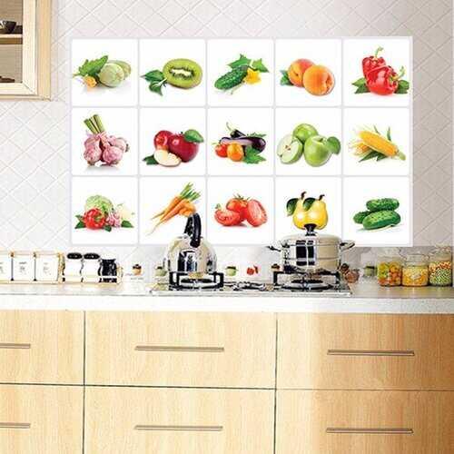 Kitchen Vegetable Fruit Oil-proof Wall Sticker
