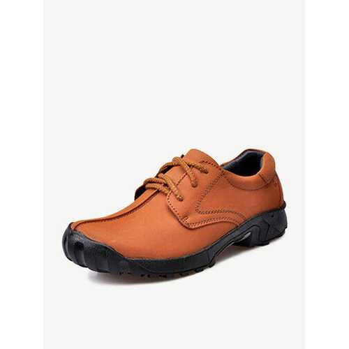 Hiking Cow Leather Slip Resistant Outdoor Casual Sport Sneakers For Men