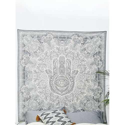 210*145cm Hand Indian Ethnic Mandala Bedspread Throw Mat