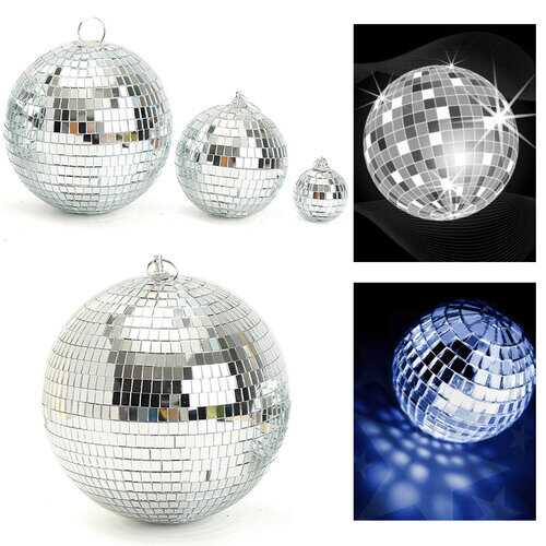Glass Rotating Mirror Disco Ball Party Stage Lighting KTV Bars Shop Becoration Balls