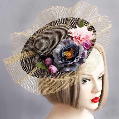 Cosplay Hair Clip Retro Elegant Cotton Flower Lace Hair Clip Hat