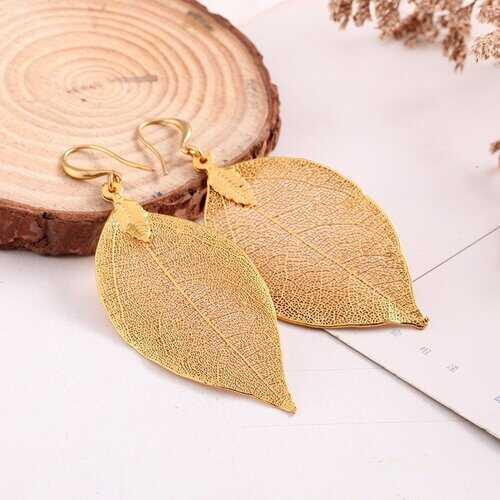 Vintage Leaves Dangle Earrings