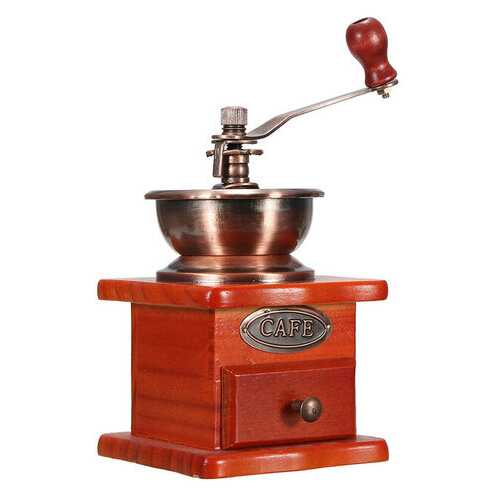 Vintage Wooden Mill Manual Coffee Bean Grinder