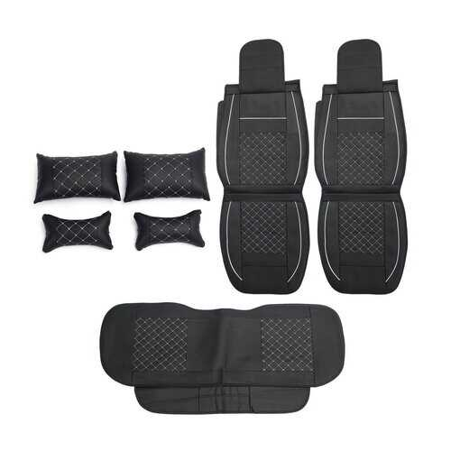 7PCS PU Leather Car Seat Cover